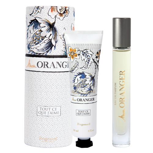 Set Mon Oranger Contine: Apă de Parfum 7,5 ml + Cremă pentru mâini 30 ml