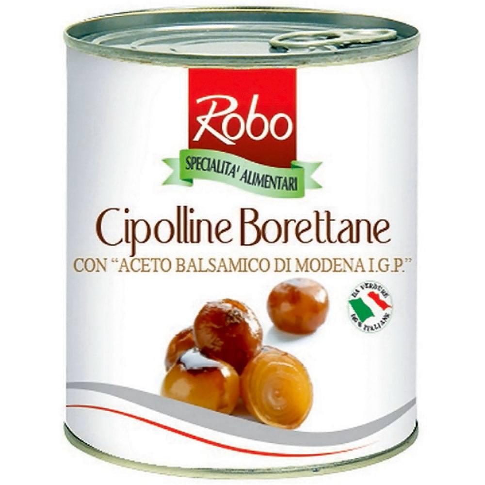 Ceapa mini tip Boretana in otet balsamic de Modena IGP Robo 840g net