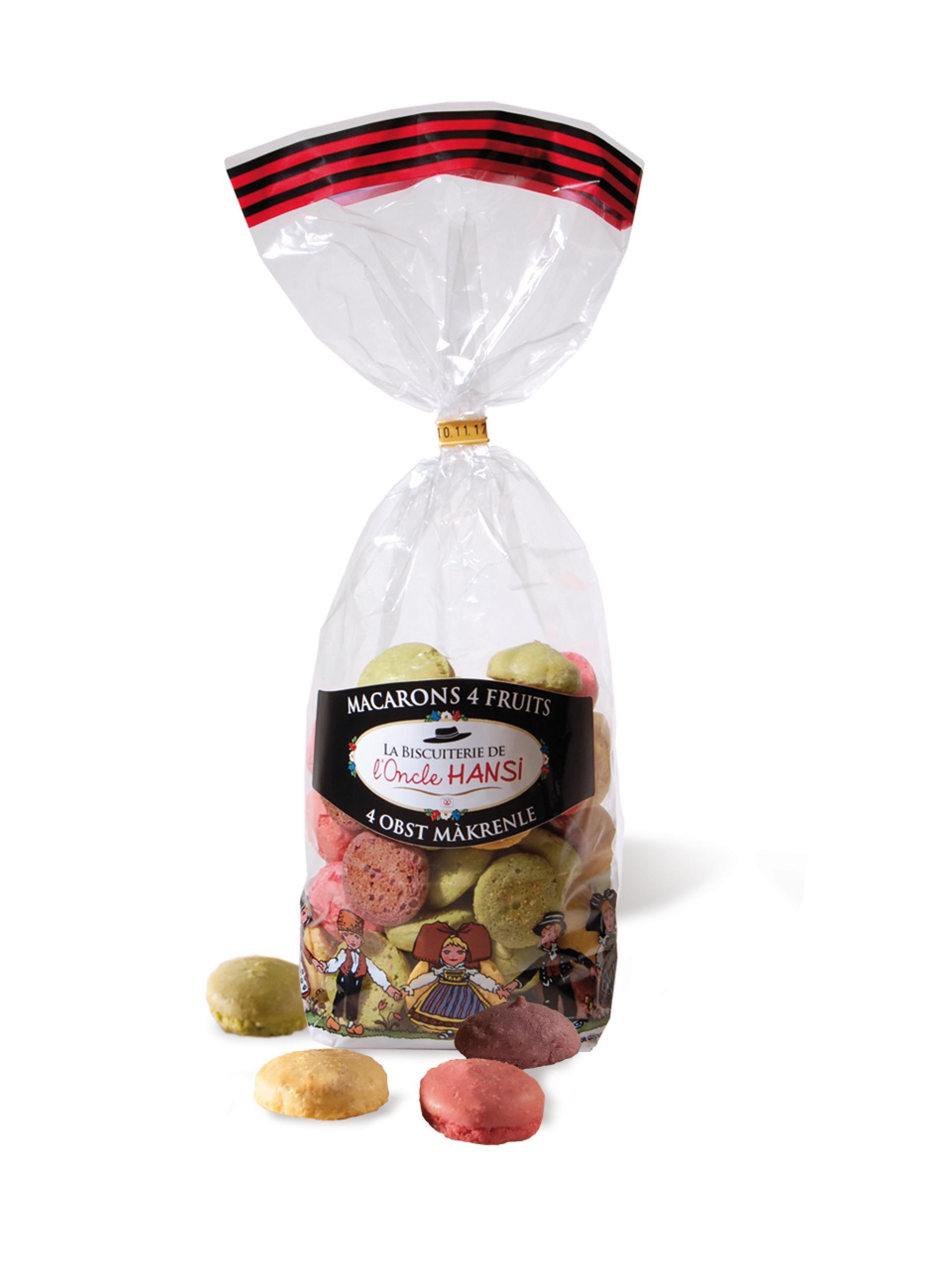 Macarons cu migdale si fructe Fortwenger 200g
