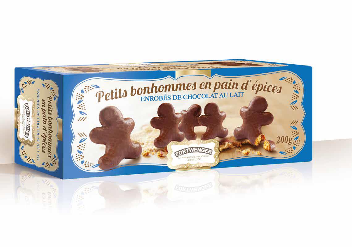Omuleti de turta dulce cu ciocolata cu lapte Fortwenger 200g