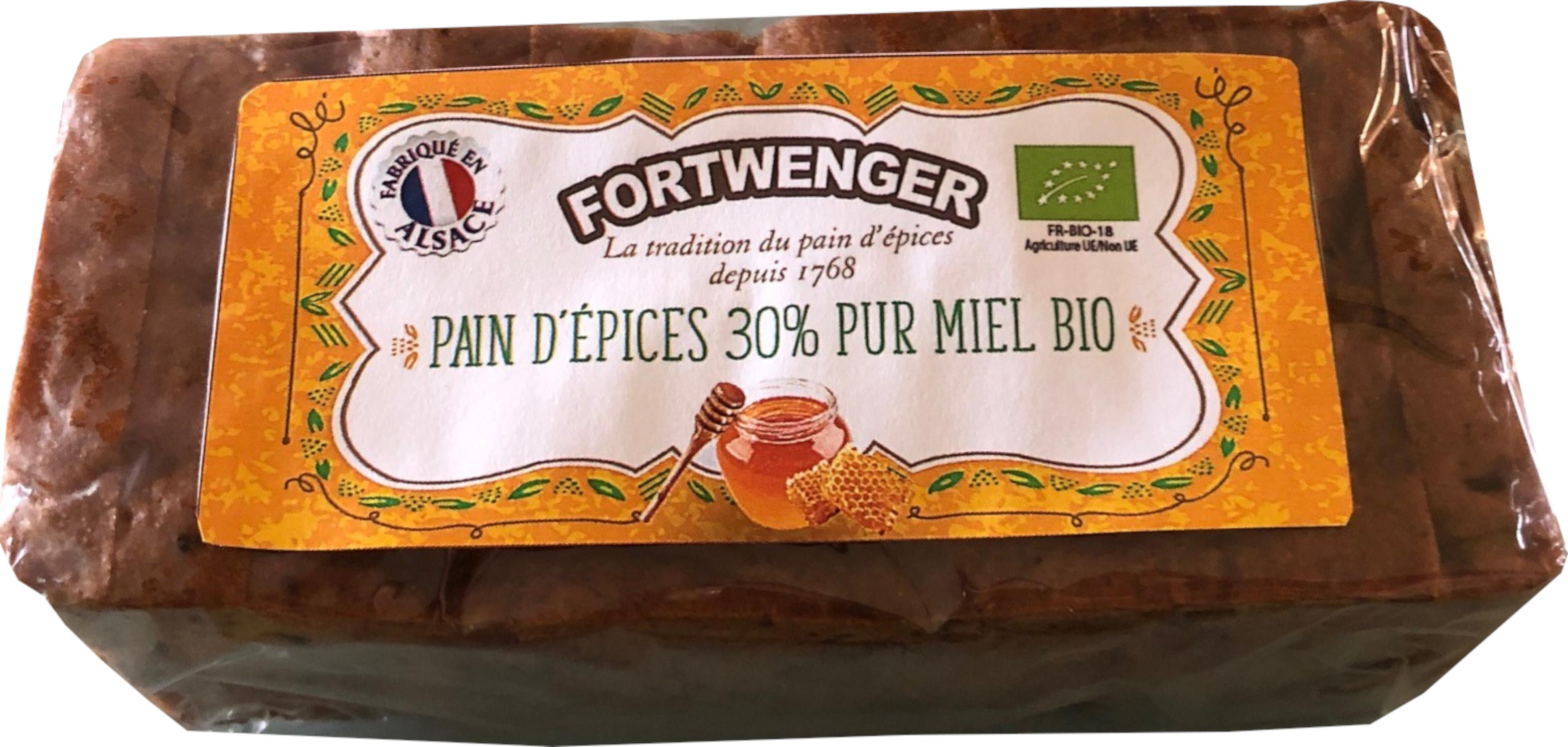 Prajitura din turta dulce cu miere 30% Bio Fortwenger 150g