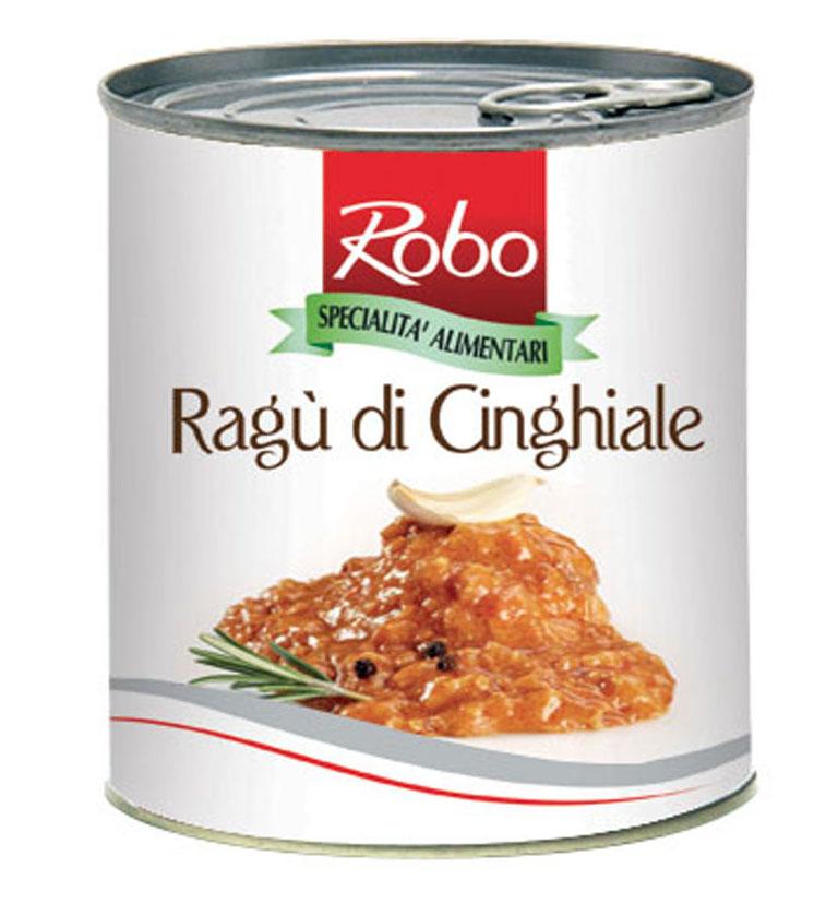 Ragu din carne de mistret in sos rosu Robo 800g net