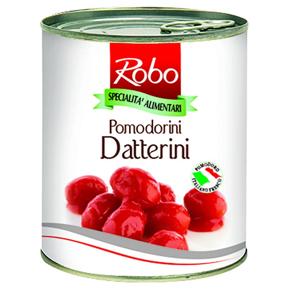 Rosii Datterini intregi in sos tomat Robo 800g