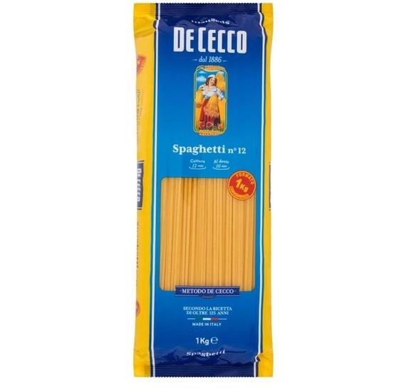 Spaghetti De Cecco no.12 ambalaj 1 kg