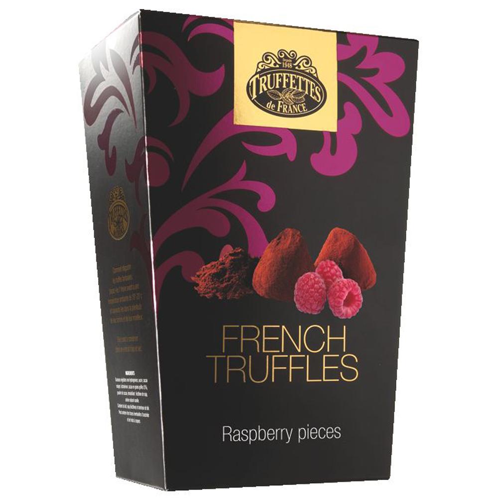 Trufe de ciocolata cu bucati de zmeura Truffettes de France Chocmod 200g