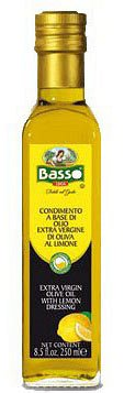 Ulei de masline extravirgin aromat cu lamaie Basso la 250ml sticla