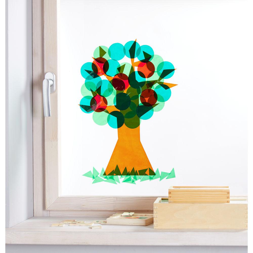 Pomul anotimpurilor - Set de 12 stickere pentru geam imagine edituradiana.ro