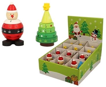 Calendar rotativ din lemn cu motive de Crăciun imagine edituradiana.ro