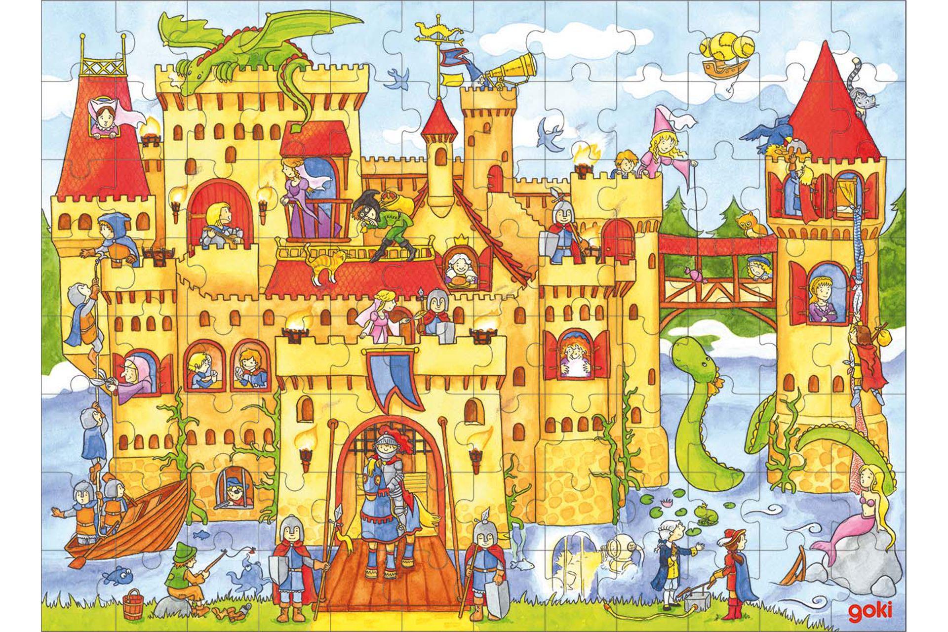 Puzzle cu 96 piese - Castelul cavalerului imagine edituradiana.ro
