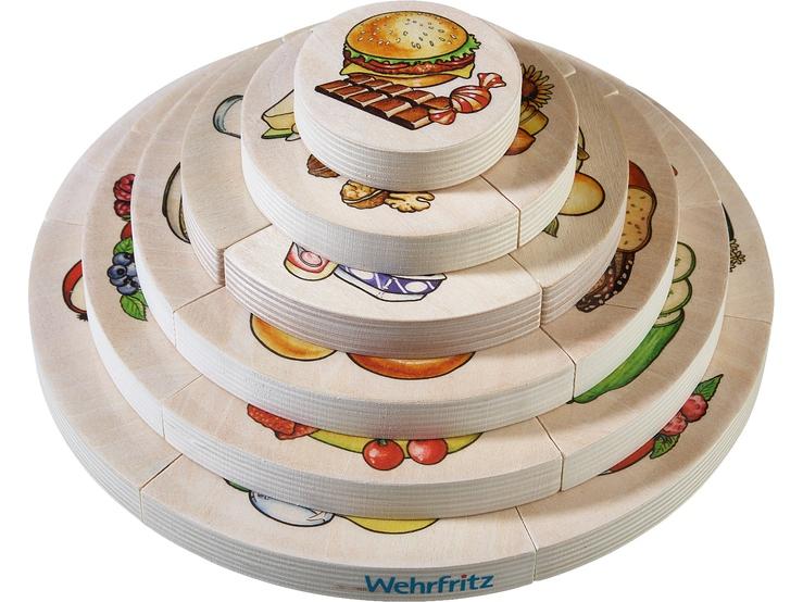 Puzzle stratificat 3D cu 22 de piese - Piramida alimentelor imagine edituradiana.ro
