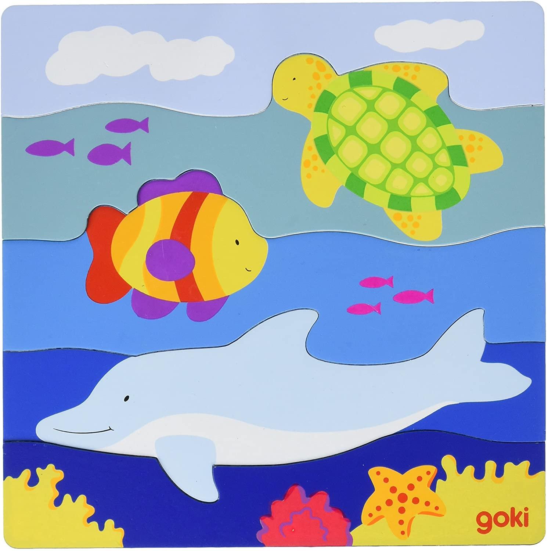Puzzle încastrat - Animale marine imagine edituradiana.ro