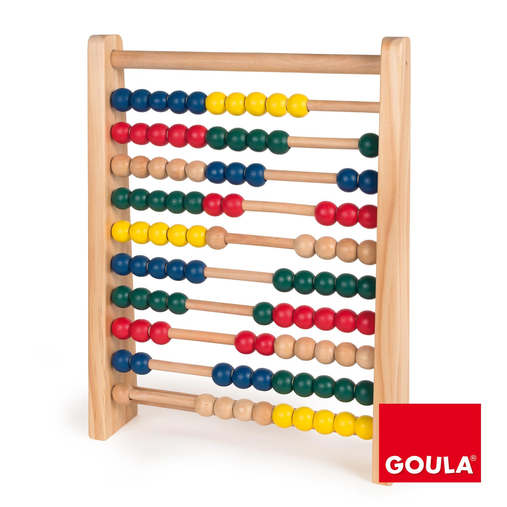 Numărătoare din lemn cu 100 de bile colorate imagine edituradiana.ro