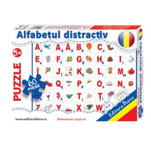 Alfabetul distractiv - Puzzle 60 piese imagine edituradiana.ro