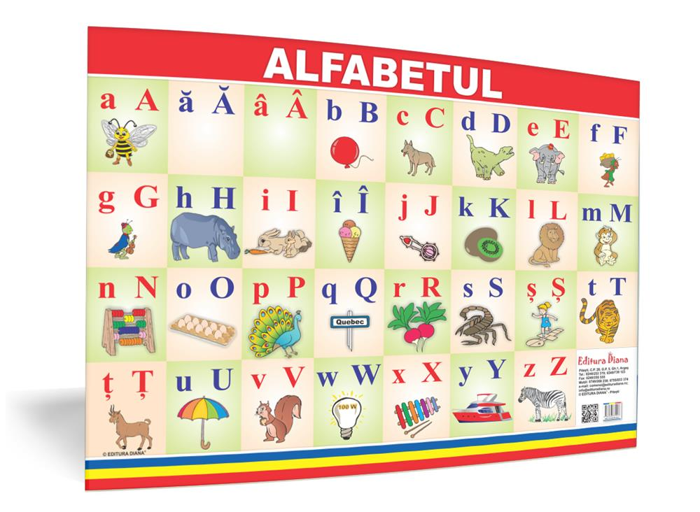 Alfabetul - planșă 50x70 - Proiecte Tematice imagine edituradiana.ro