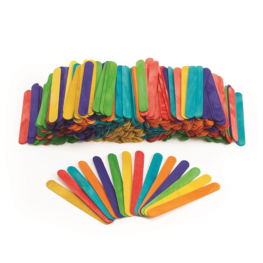 Bețișoare colorate din lemn - 500 buc imagine edituradiana.ro