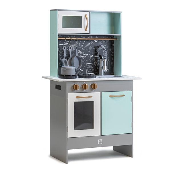 Bucătărie modernă din lemn cu ustensile incluse imagine edituradiana.ro