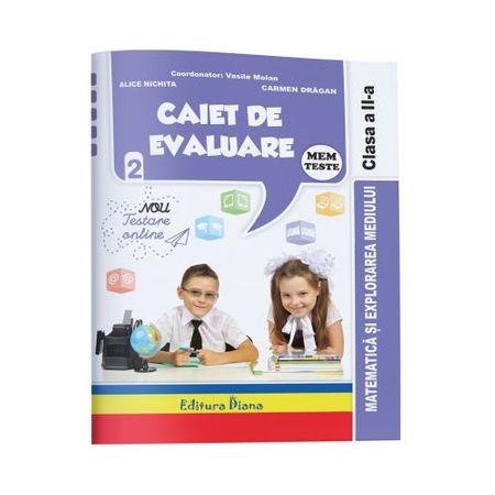 Caiet de evaluare - matematica si explorarea mediului teste clasa a II a