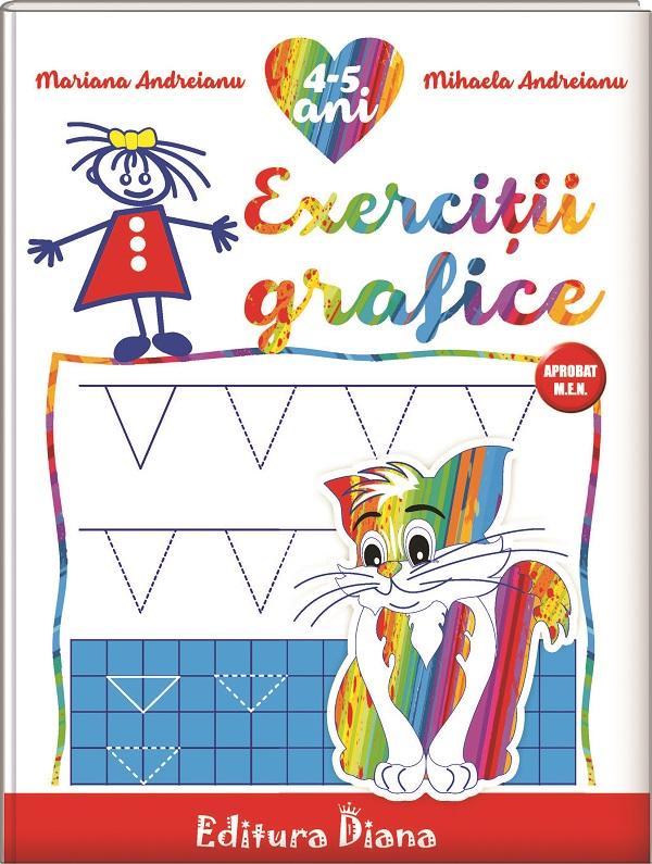 Caiet de exerciții grafice 4-5 ani (B5) imagine edituradiana.ro