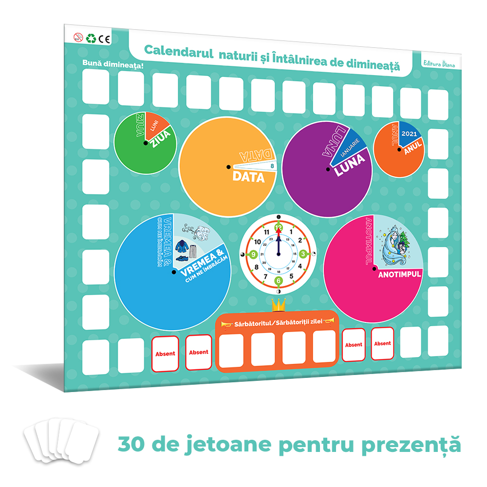 Calendarul naturii și Întâlnirea de dimineață pentru preşcolari şi şcolari mici imagine edituradiana.ro