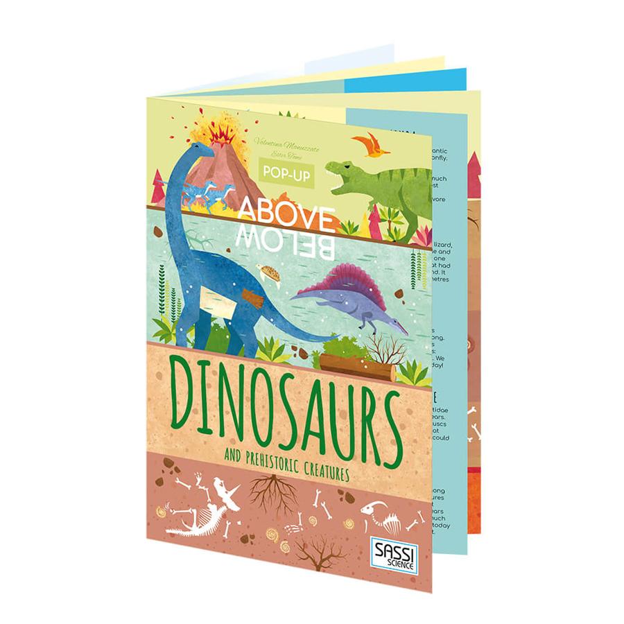 Carte pop-up. Deasupra și dedesubt - Dinozauri și creaturi preistorice