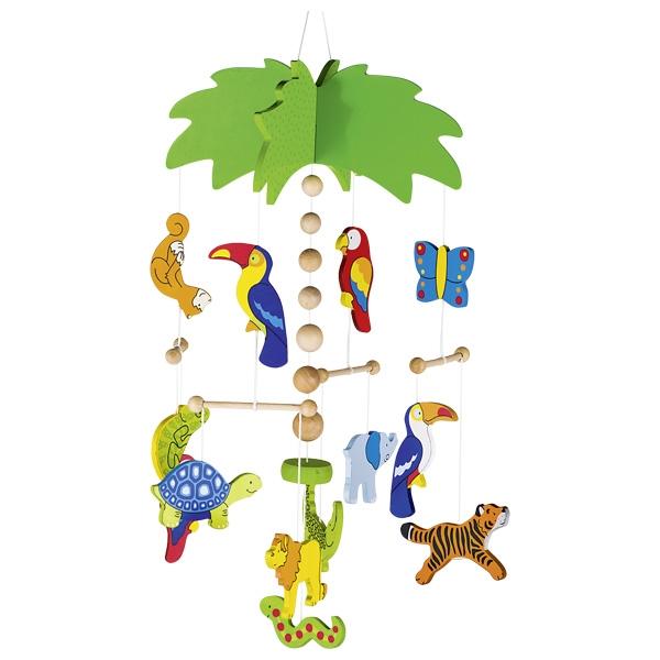Carusel din lemn - Palmier cu animale imagine edituradiana.ro