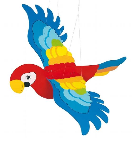 Carusel din lemn - Papagal mare imagine edituradiana.ro