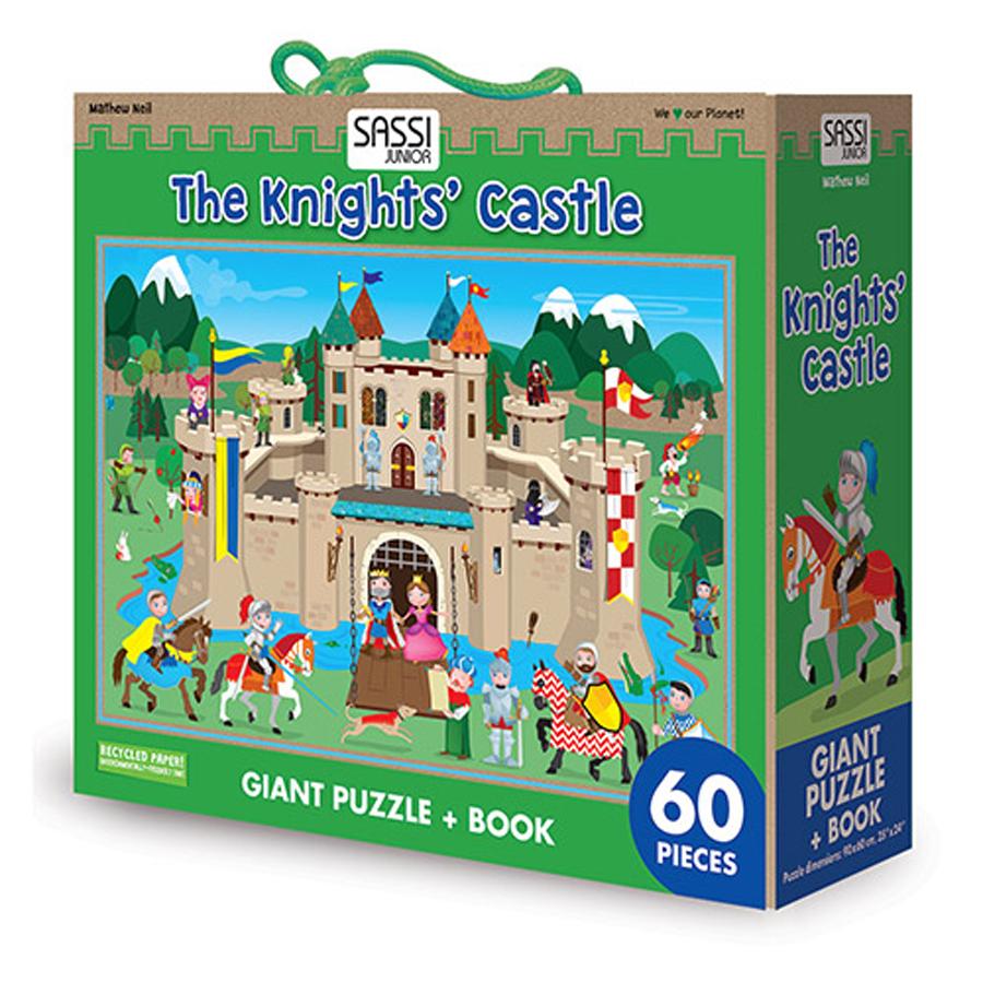 Castelul cavalerilor - Puzzle uriaș și carte imagine edituradiana.ro