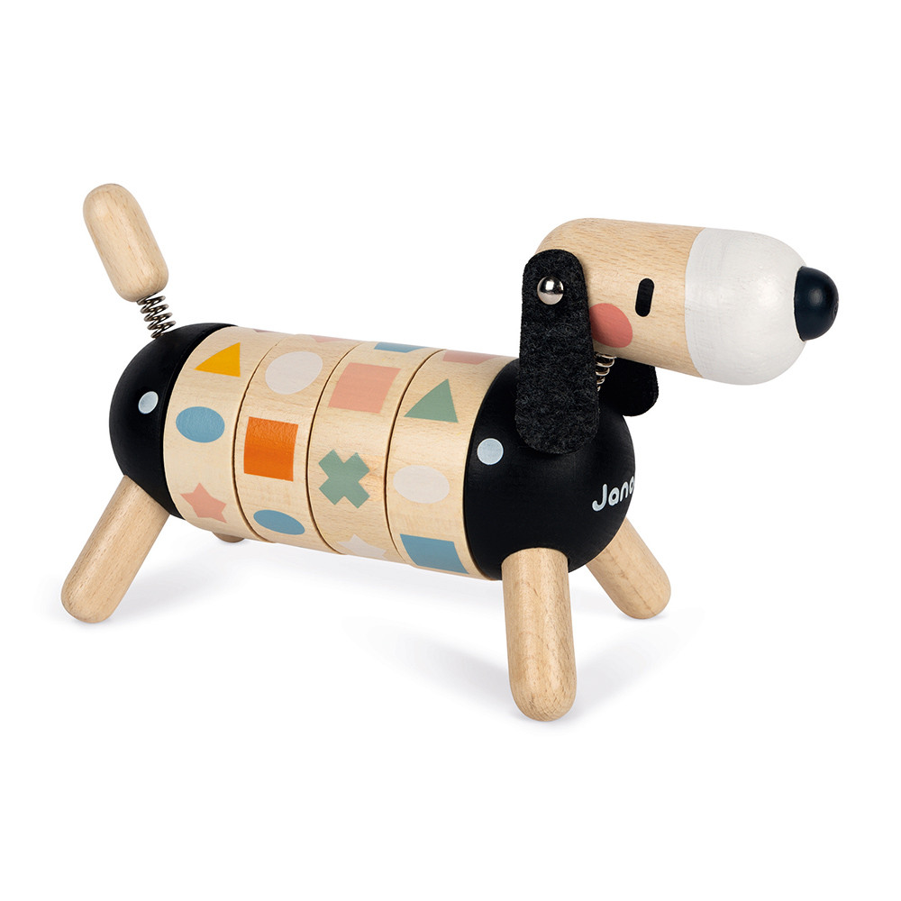 Câine din lemn - Potrivește formele și culorile (26,4 x 9,9 x 14,7 cm) imagine edituradiana.ro