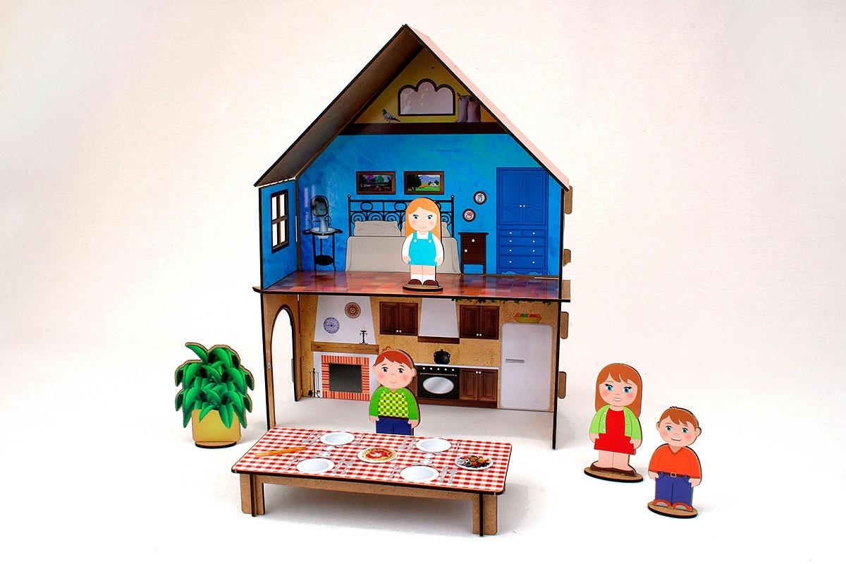 Joc de construcție cu autocolante - Căsuța familiei mele imagine edituradiana.ro