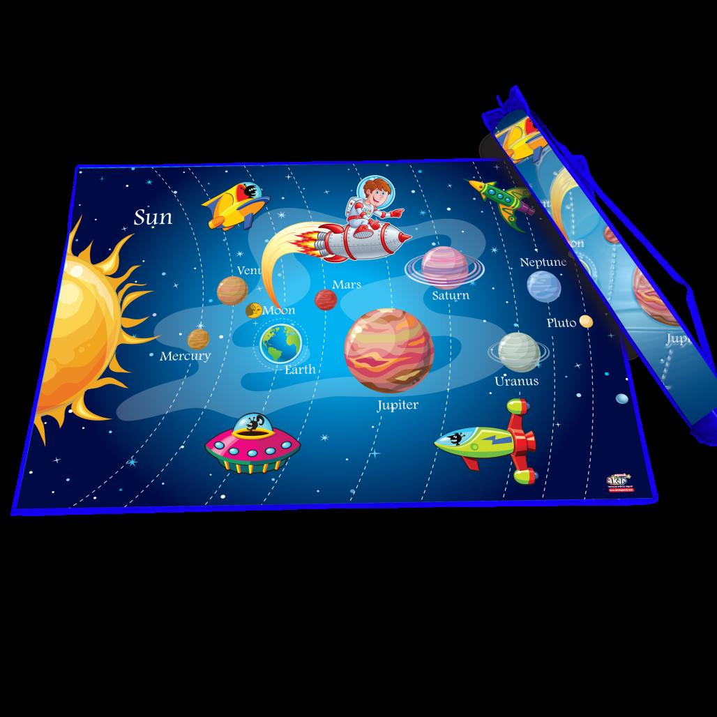 Covoraș de joacă - Sistemul solar (150 x 100 cm) imagine edituradiana.ro