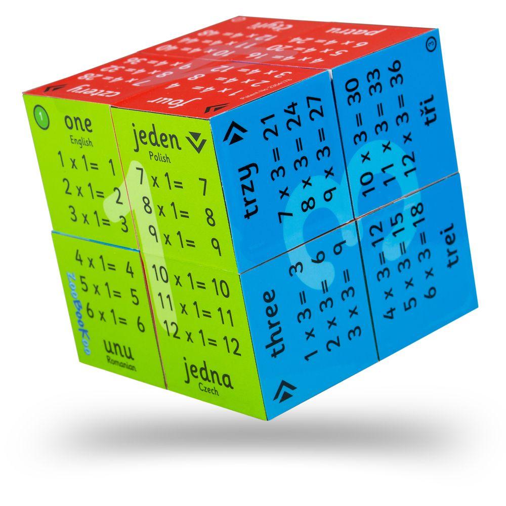 Cub educativ pliabil cu tabla înmulțirii de la 1 la 12 (în română, engleză, poloneză și cehă) imagine edituradiana.ro
