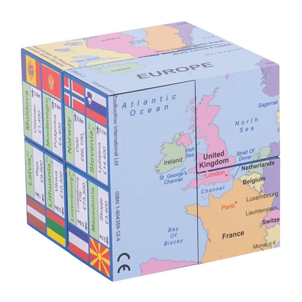 Cub educativ pliabil - Națiuni europene. Hartă, drapele și informații geografice imagine edituradiana.ro