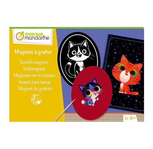 Cutie creativă cu 6 magneți și 3 carduri pentru răzuire imagine edituradiana.ro
