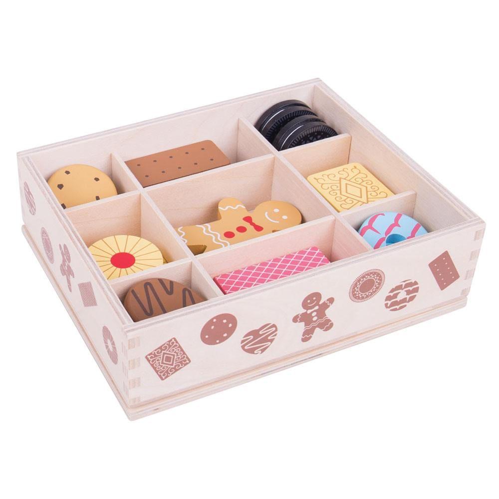 Cutie cu biscuiți din lemn imagine edituradiana.ro