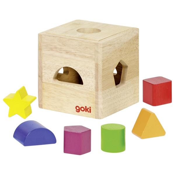 Cutie din lemn pentru sortarea formelor geometrice imagine edituradiana.ro