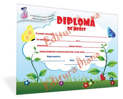 Diplomă de Merit A4 imagine edituradiana.ro