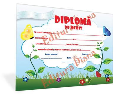 Diplomă de Merit A5 imagine edituradiana.ro