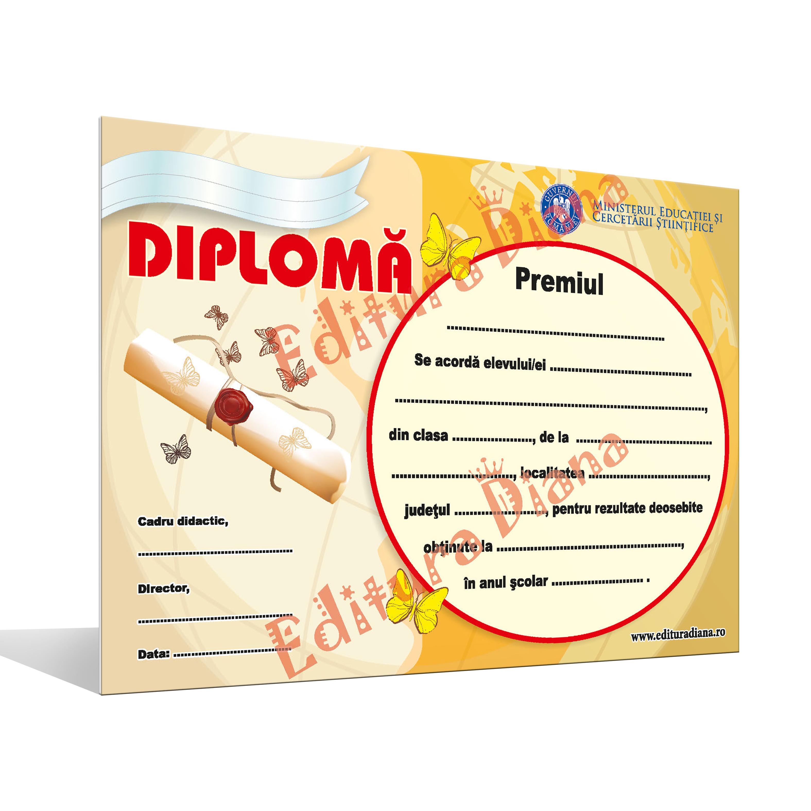 Diplomă de Premiu A4 imagine edituradiana.ro