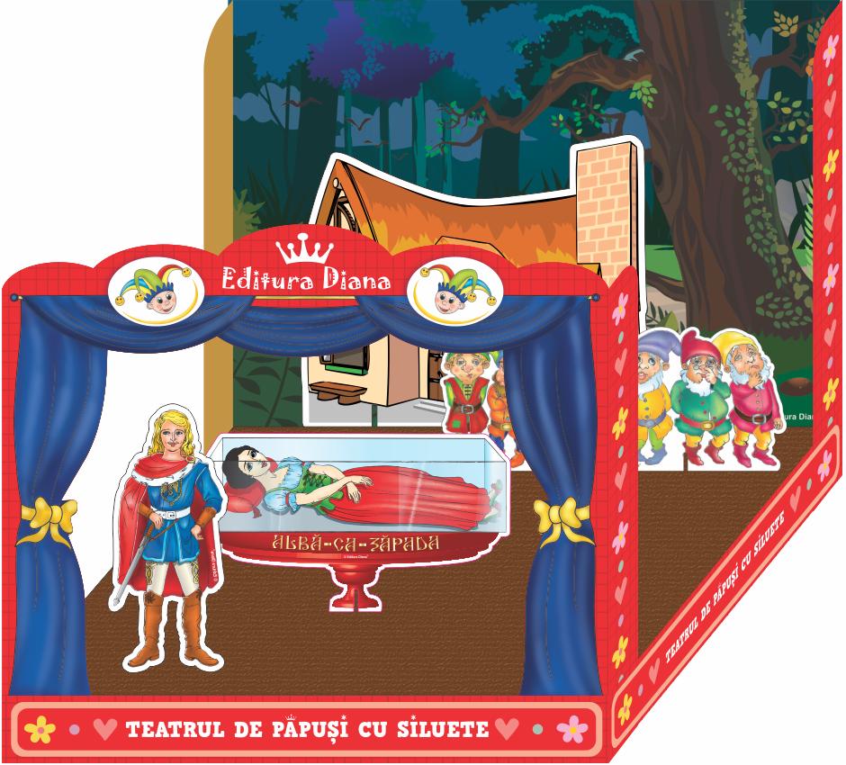 Albă ca Zapada și cei 7 pitici - Teatrul de păpuși cu siluete imagine edituradiana.ro