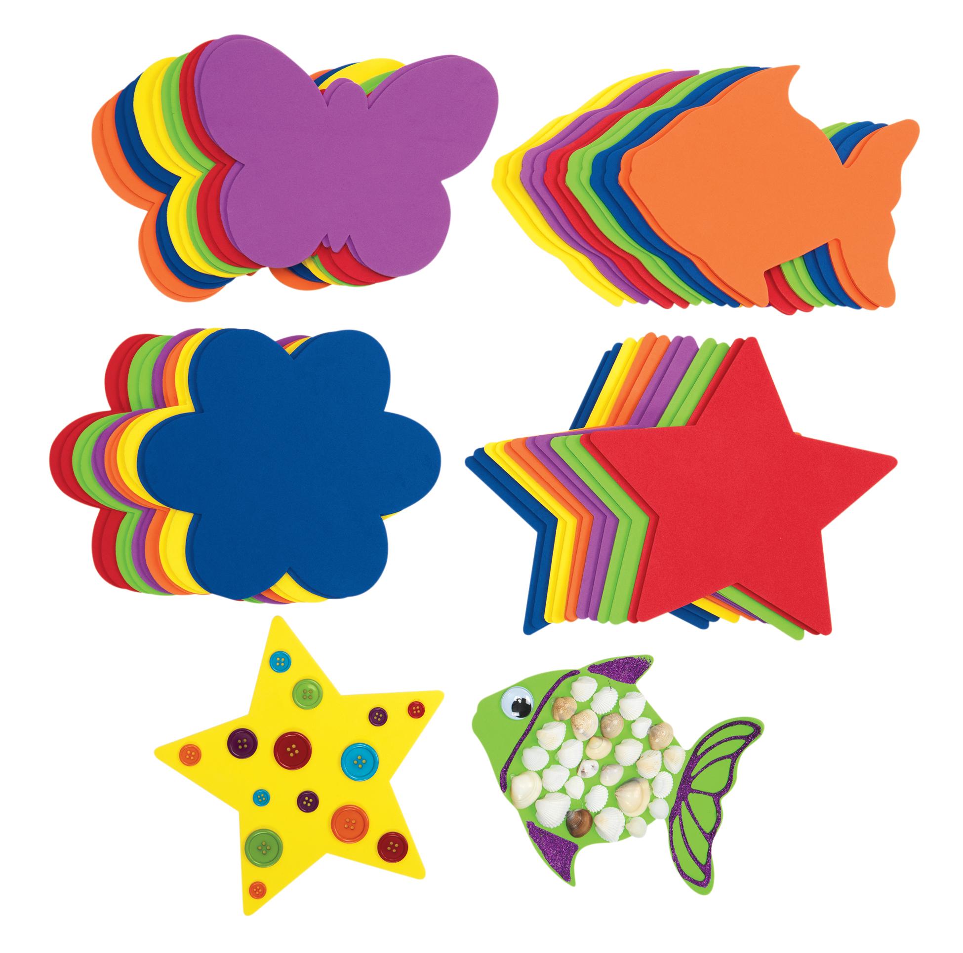 Set de 48 de forme colorate din spumă imagine edituradiana.ro
