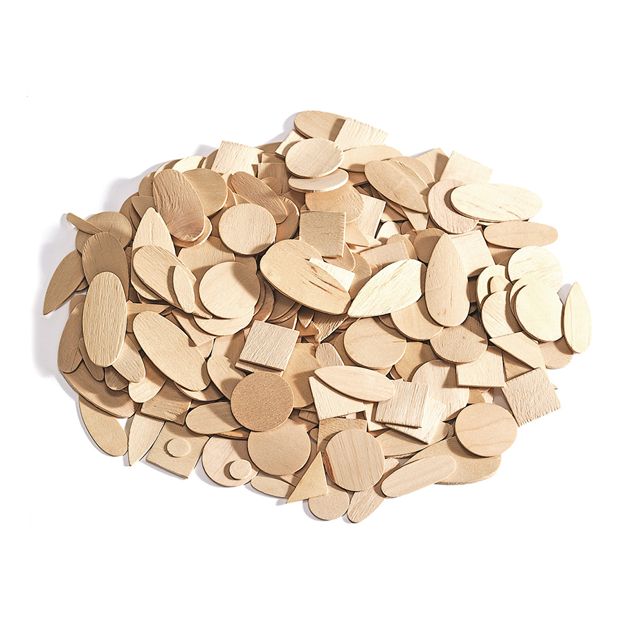 Forme geometrice din lemn - 1000 buc imagine edituradiana.ro