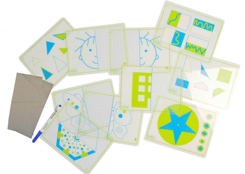 Forme simetrice - Joc de îndemânare cu 10 carduri imagine edituradiana.ro