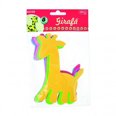 Girafa spuma - Accesorii craft AD102 imagine edituradiana.ro