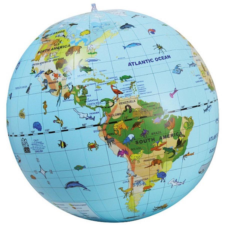Glob pământesc gonflabil cu 270 de animale imagine edituradiana.ro