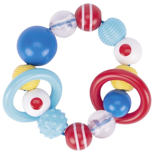 Inel senzorial pentru bebeluși cu mărgele colorate din plastic imagine edituradiana.ro