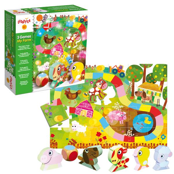 Joc 3 în 1: Puzzle, joc de rol și joc de masă - Ferma mea imagine edituradiana.ro