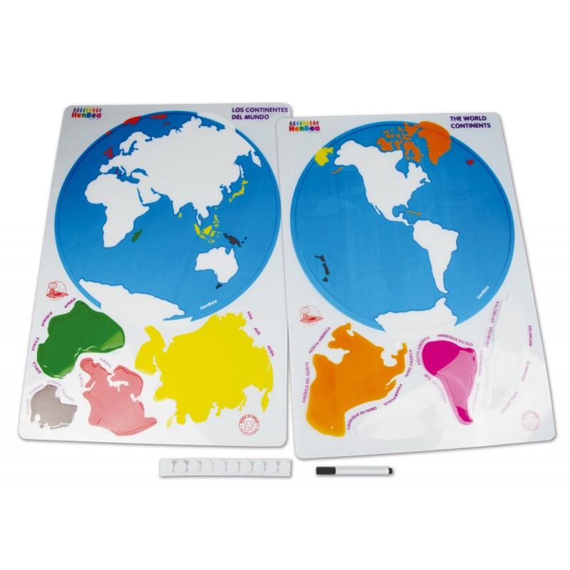 Joc cu șabloane - Descoperă continentele lumii imagine edituradiana.ro