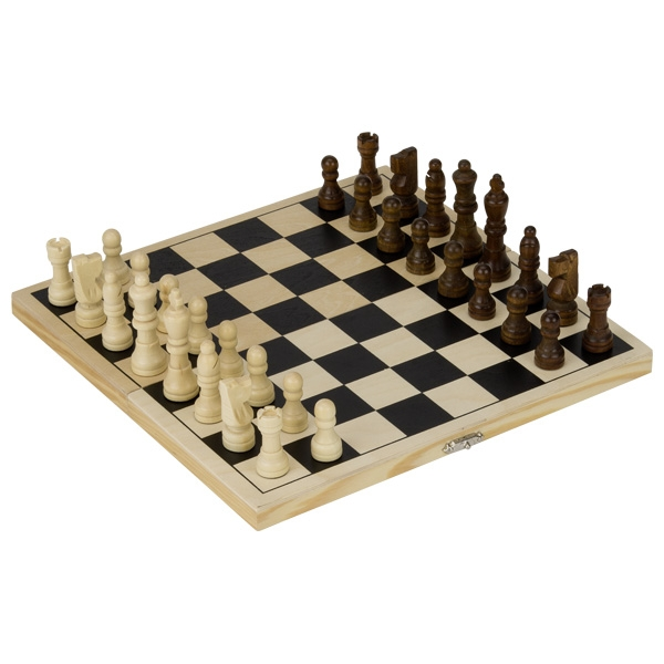 Joc de șah cu piese și casetă din lemn imagine edituradiana.ro
