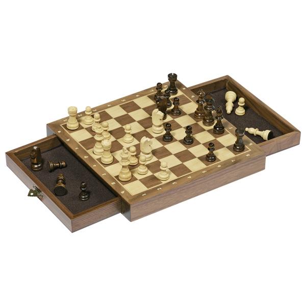 Joc de șah cu piese magnetice și sertare imagine edituradiana.ro