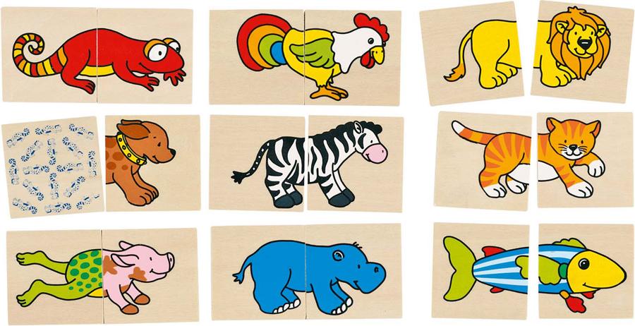 Joc de memorie și puzzle - Animale amuzante imagine edituradiana.ro